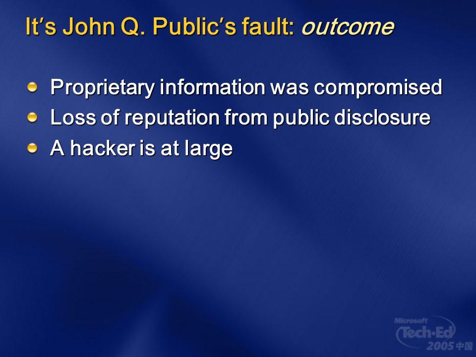 It ' s John Q.