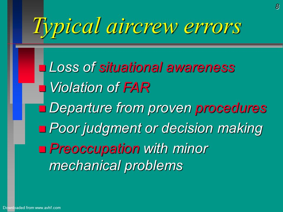 79 Downloaded from www.avhf.com Crew Resource Management *** The End ***