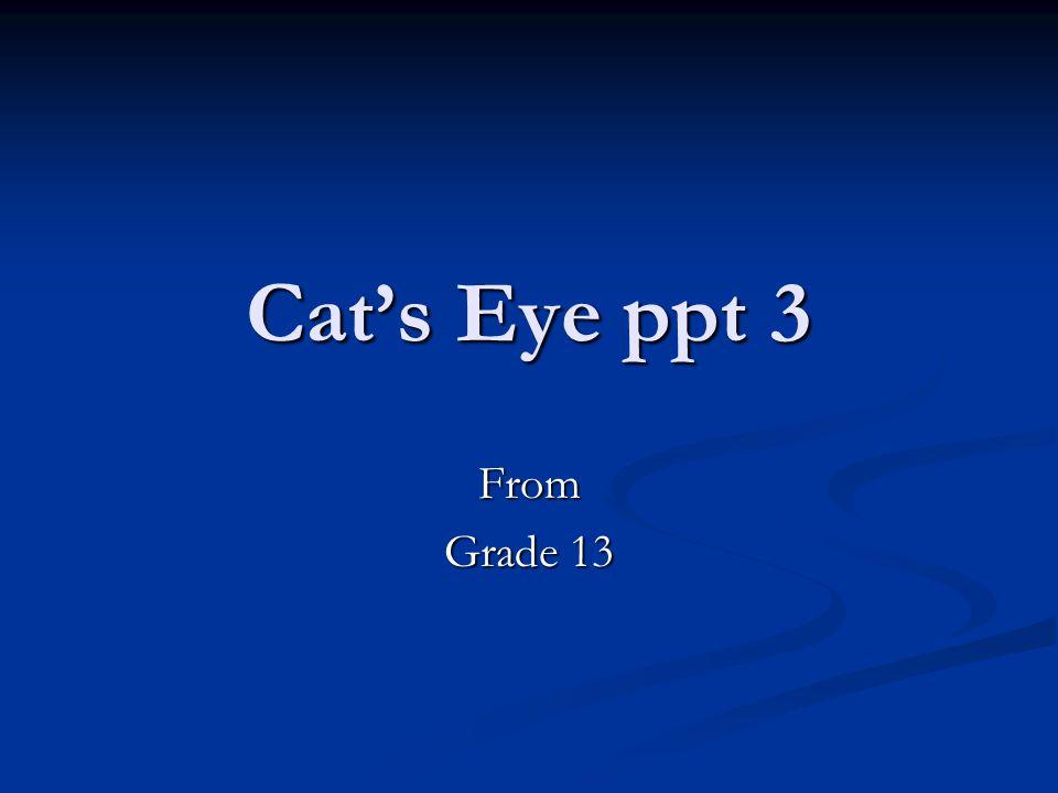 Cat's Eye ppt 3 From Grade 13