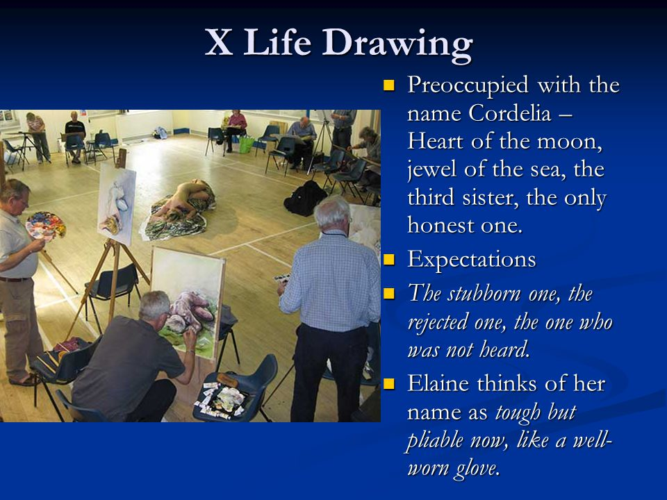X Life Drawing X Life Drawing Preoccupied with the name Cordelia – Heart of the moon, jewel of the sea, the third sister, the only honest one. Preoccu