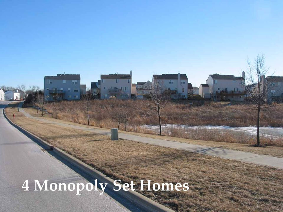 4 Monopoly Set Homes