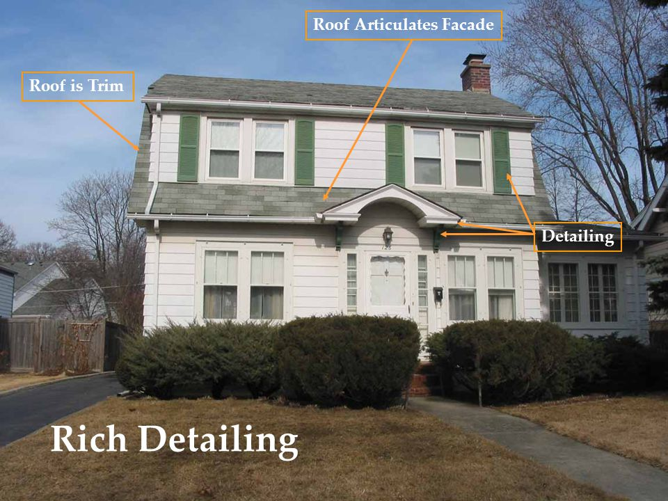 Rich Detailing Roof is Trim Roof Articulates Facade Detailing