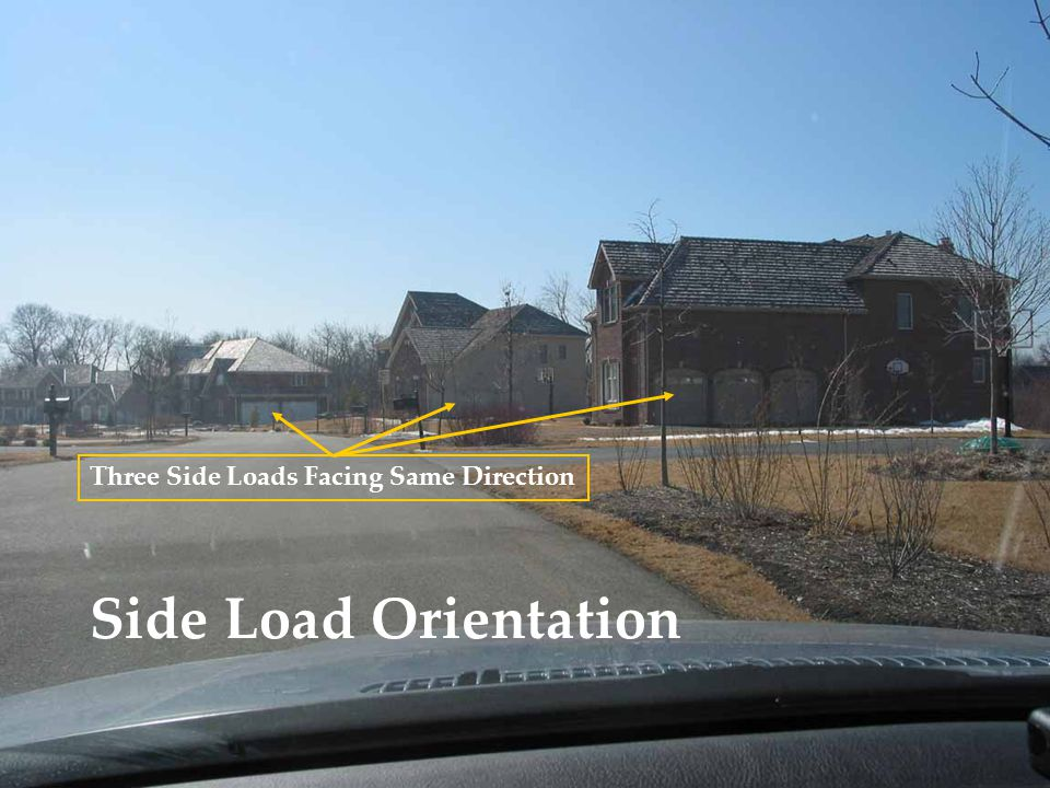 Side Load Orientation Three Side Loads Facing Same Direction