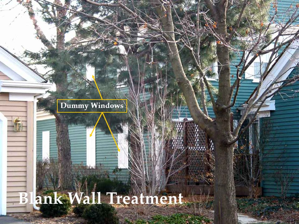 Blank Wall Treatment Dummy Windows