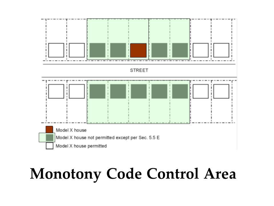 Monotony Code Control Area