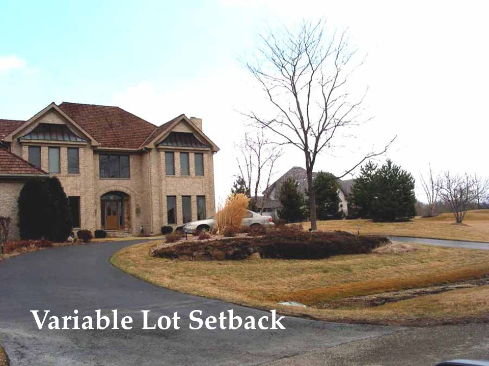 Variable Lot Setback