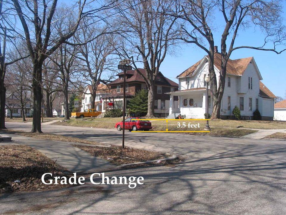 Grade Change 3.5 feet