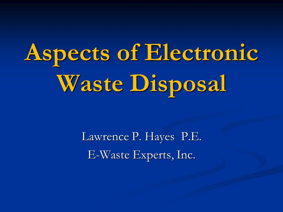 All of the companies listed on the PA DEP website that were issued Permit WMGR081 indicate that they will refurbish electronic waste products.