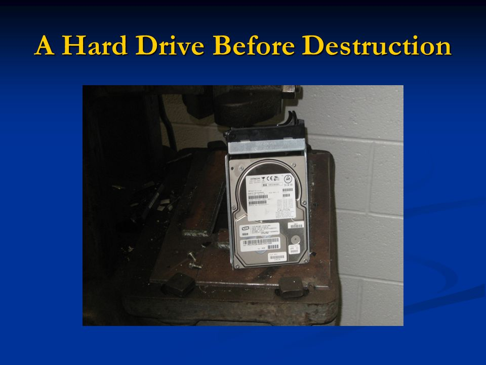 A Hard Drive Before Destruction