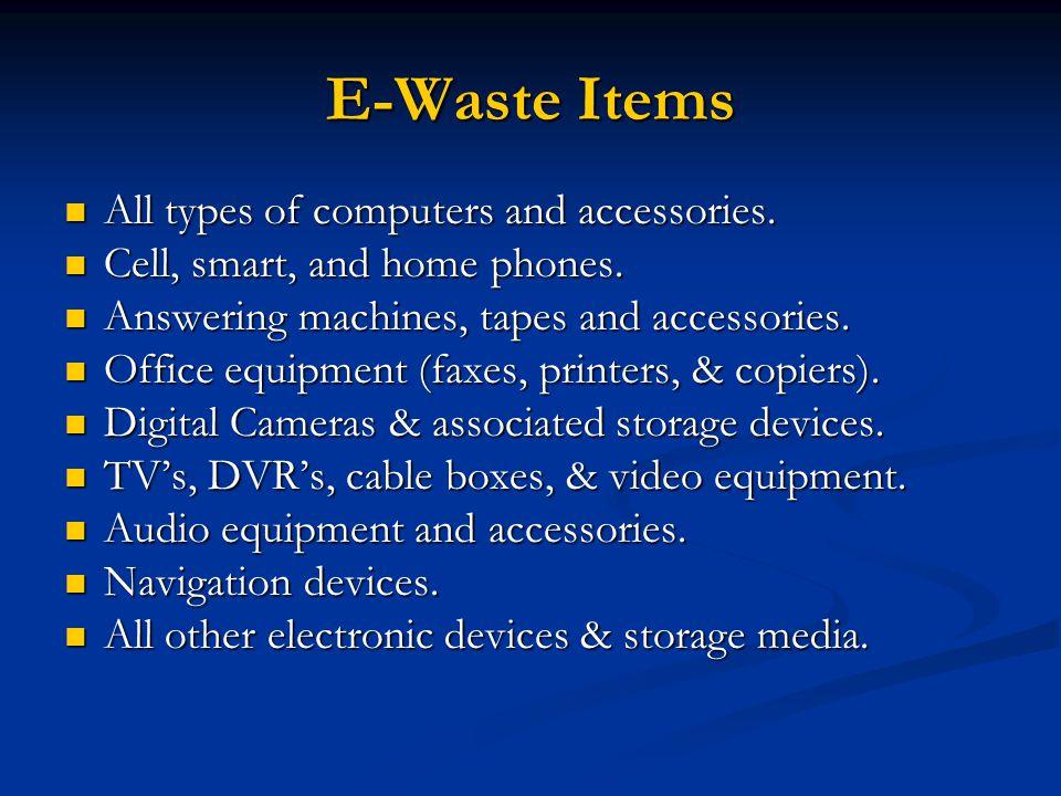EPA & State DEP Response to E-Waste