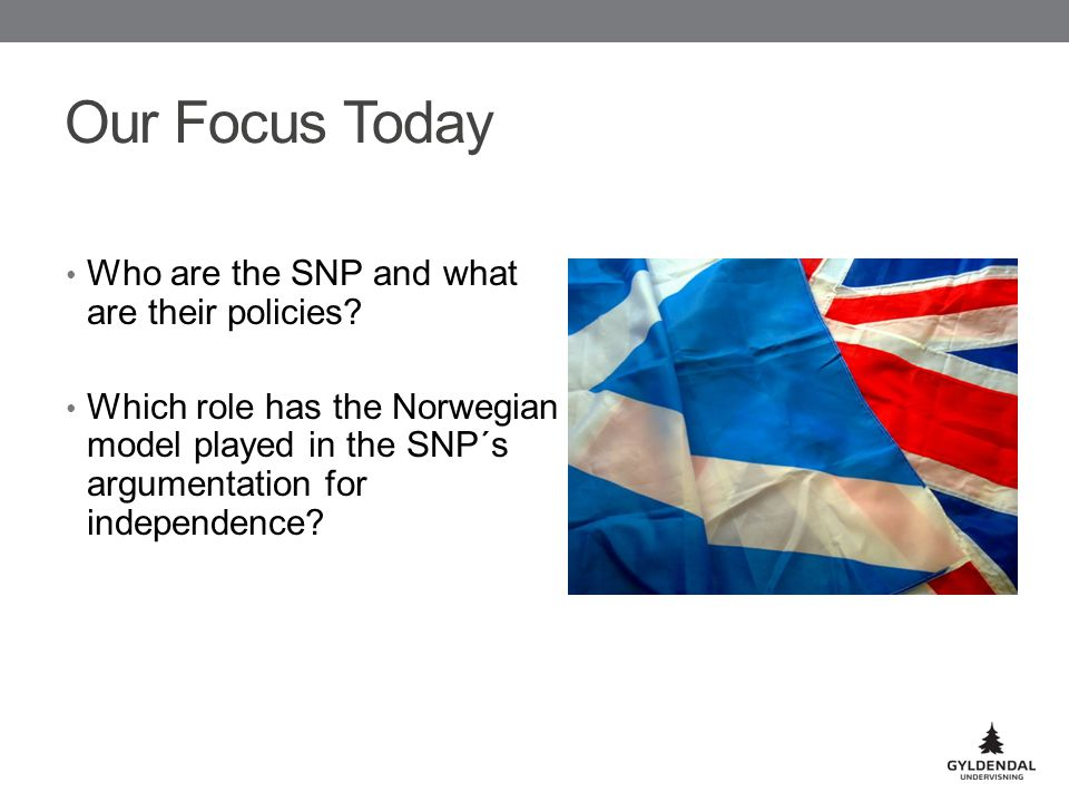 Our Focus Today Who are the SNP and what are their policies.