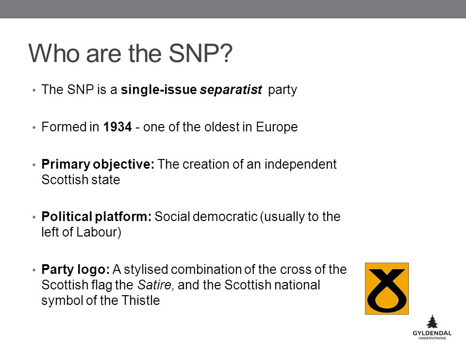 Who are the SNP.