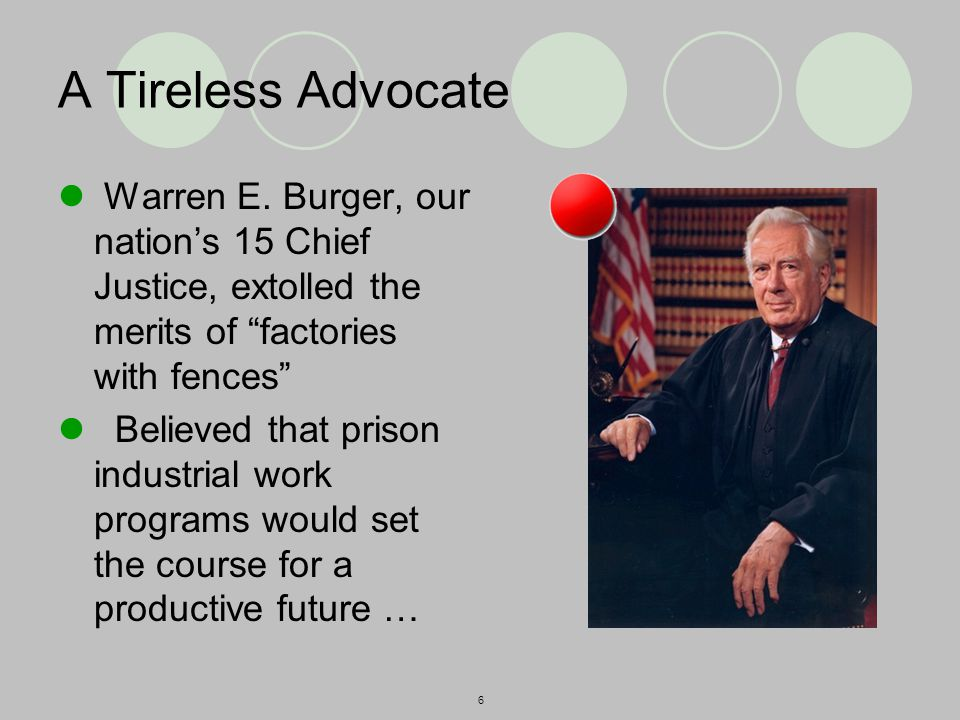 6 A Tireless Advocate Warren E.