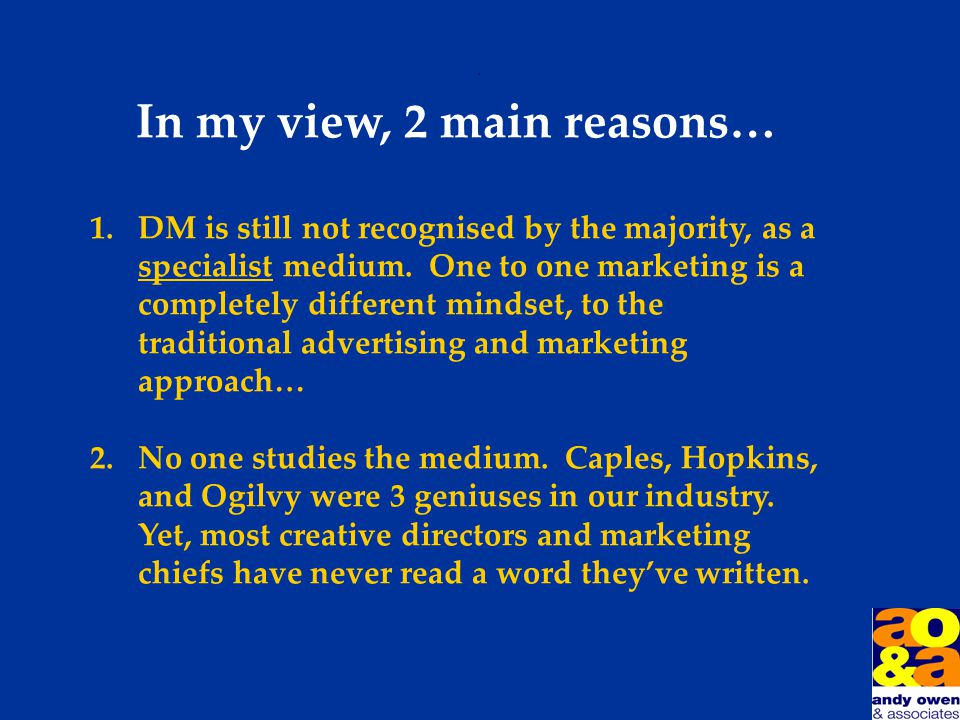 Why is DM so misunderstood