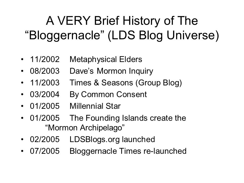The Bloggernacle