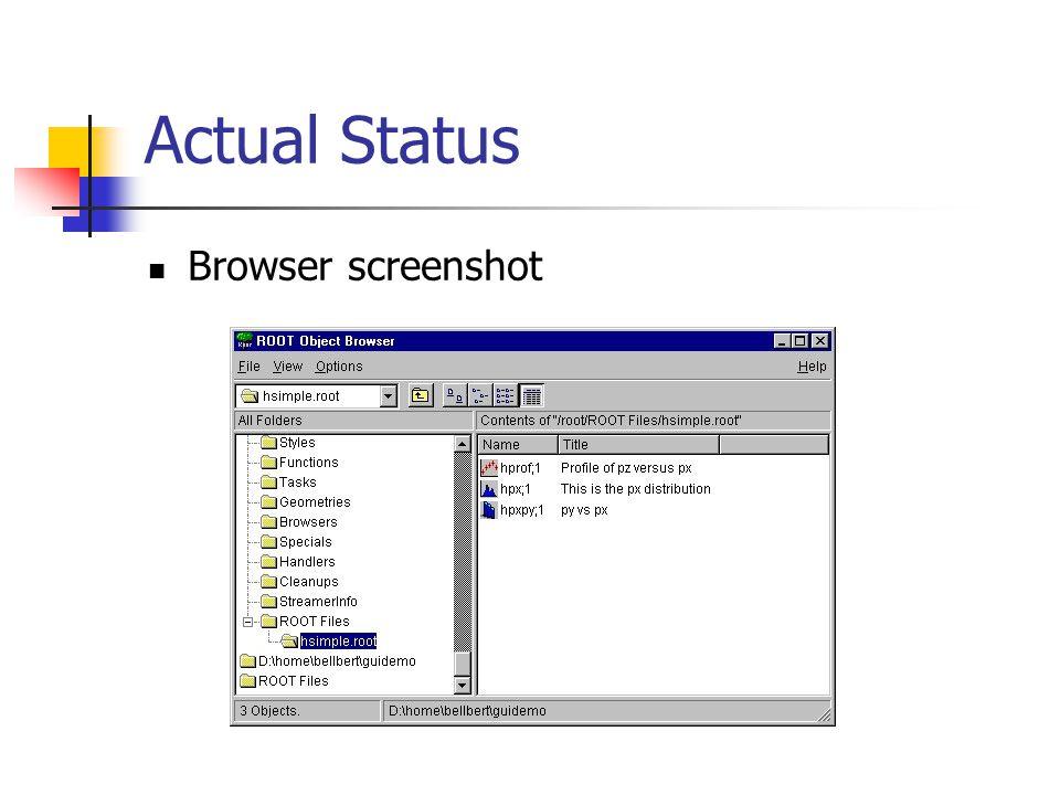 Actual Status A more complex GUI application (thank's to Dmitri Vassili).