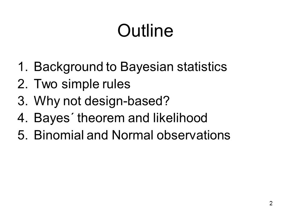 4. Bayes´ theorem and likelihood