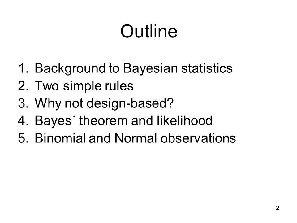 1. Background to Bayesian statistics