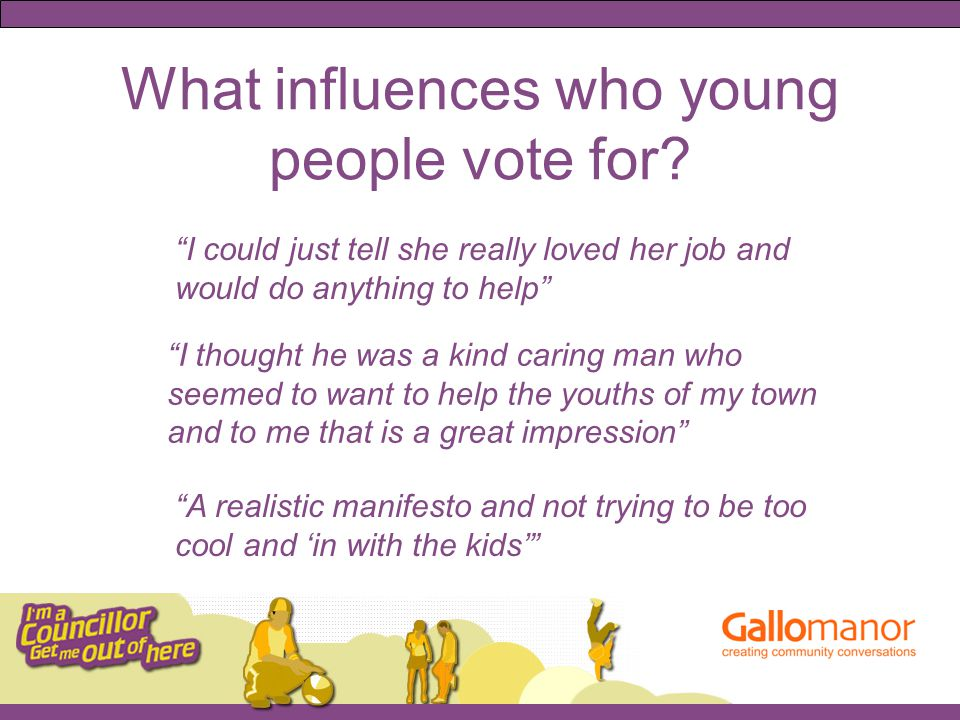What influences who young people vote for.
