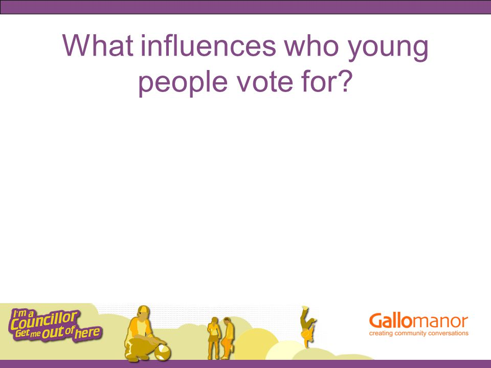 What influences who young people vote for