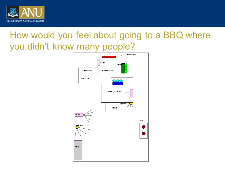 How would you feel about going to a BBQ where you didn't know many people