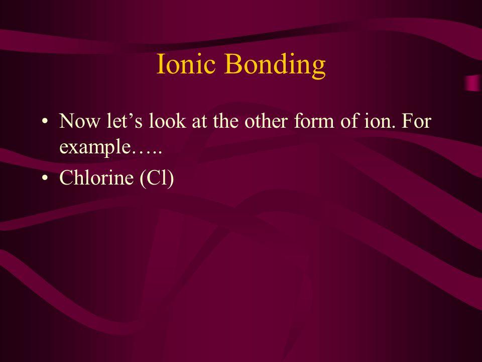 Ionic Bonding Chlorine (Cl) 2 Electrons in Orbit 8 Electrons in Orbit 7 Stupid and Annoying Electrons in Orbit