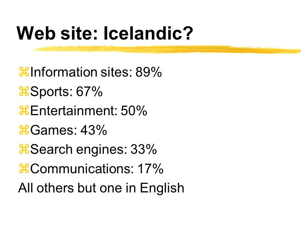 Web site: Icelandic.