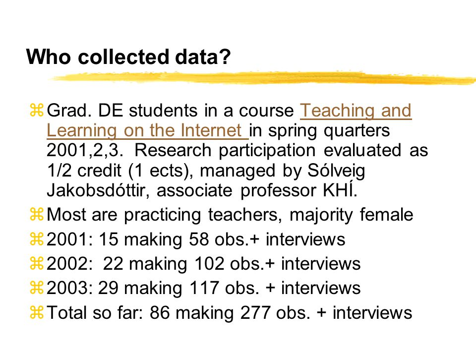 Who collected data. z Grad.