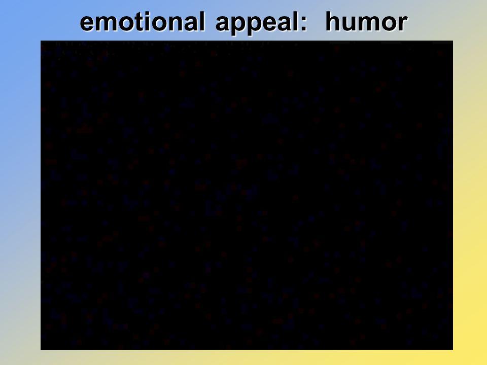 emotional appeal: humor