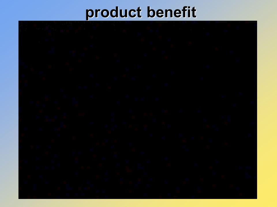 product benefit