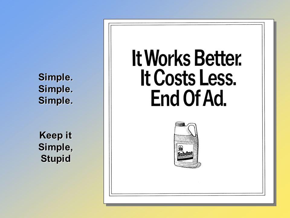 Simple visual idea