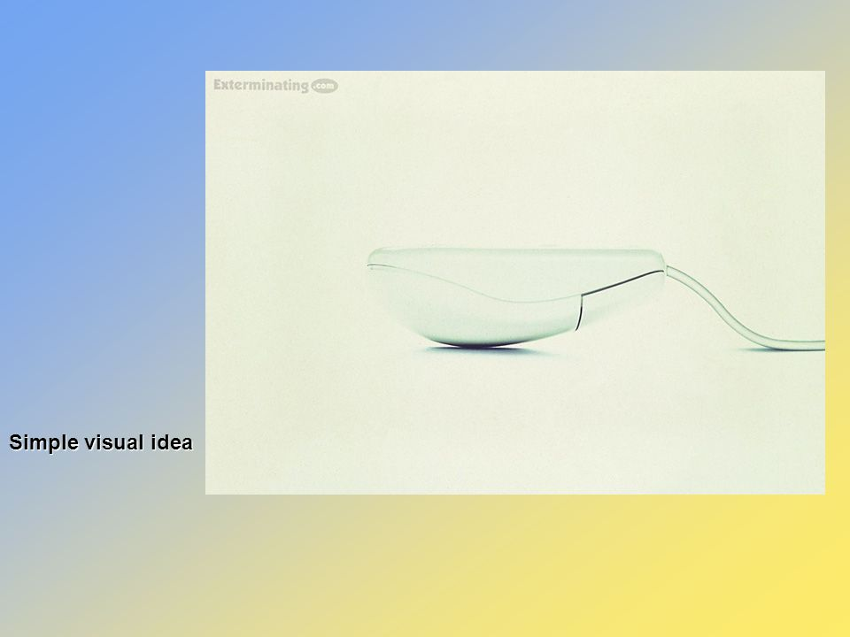 Simple visual and verbal idea