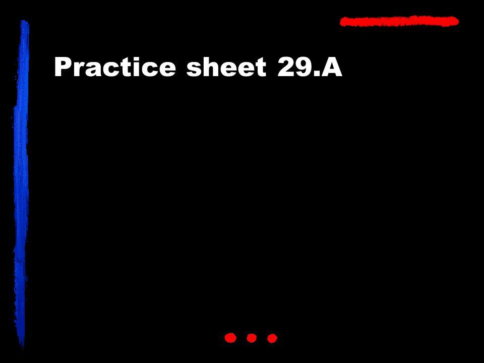 Practice sheet 29.A