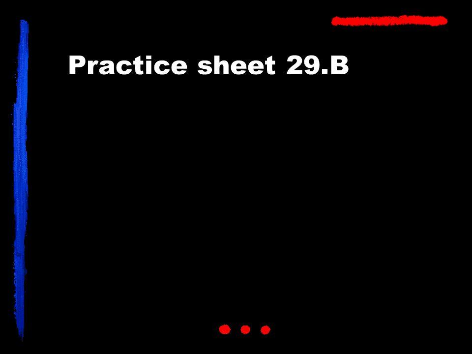 Practice sheet 29.B