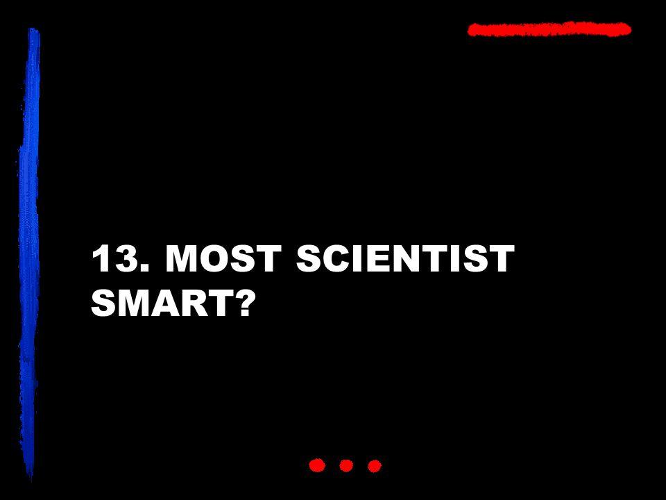 13. MOST SCIENTIST SMART