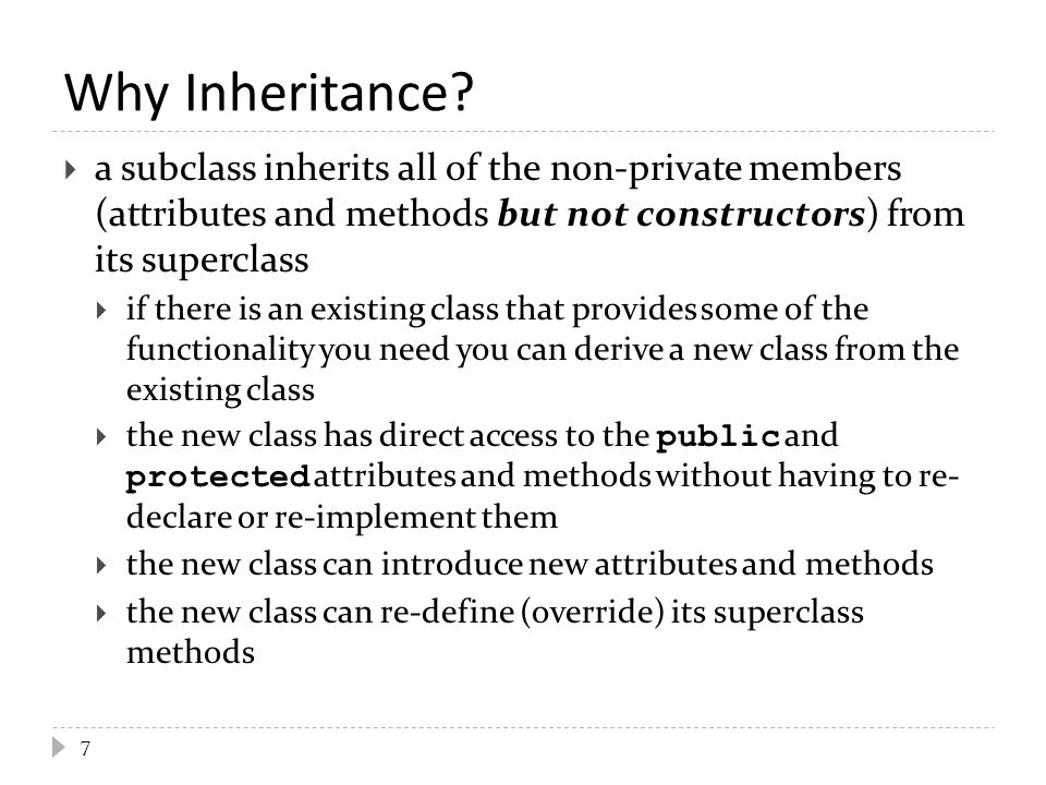 Why Inheritance.