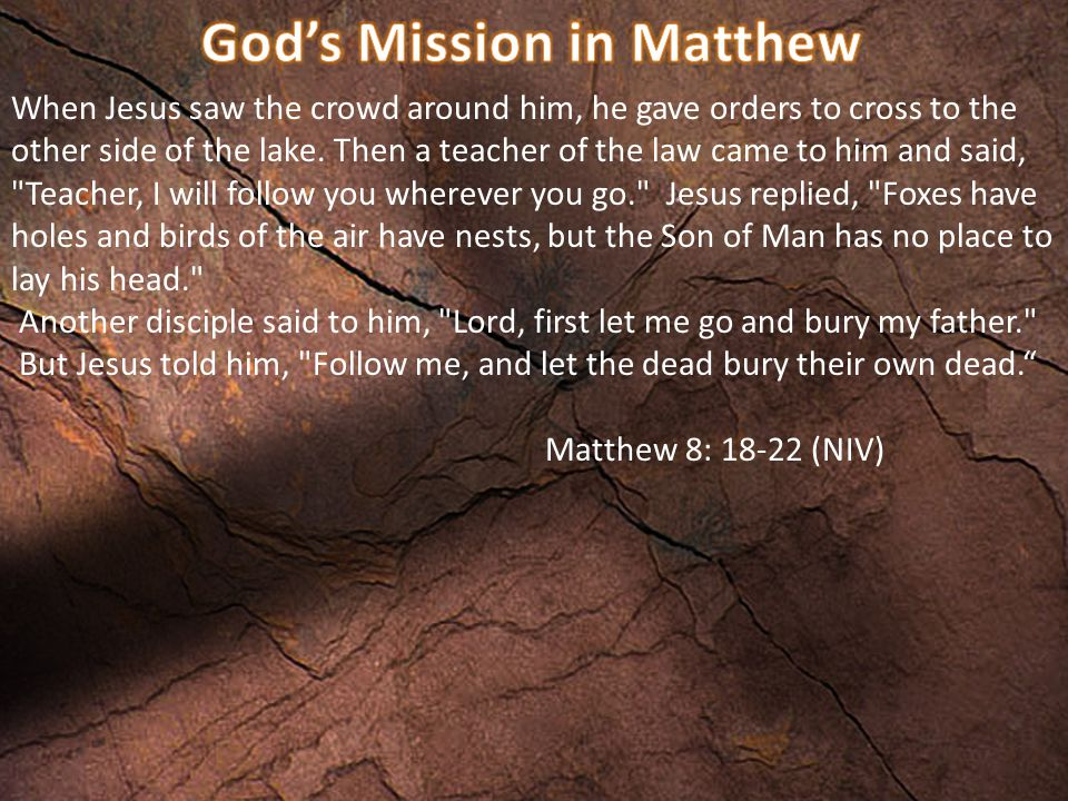When Jesus saw the crowd around him, he gave orders to cross to the other side of the lake.