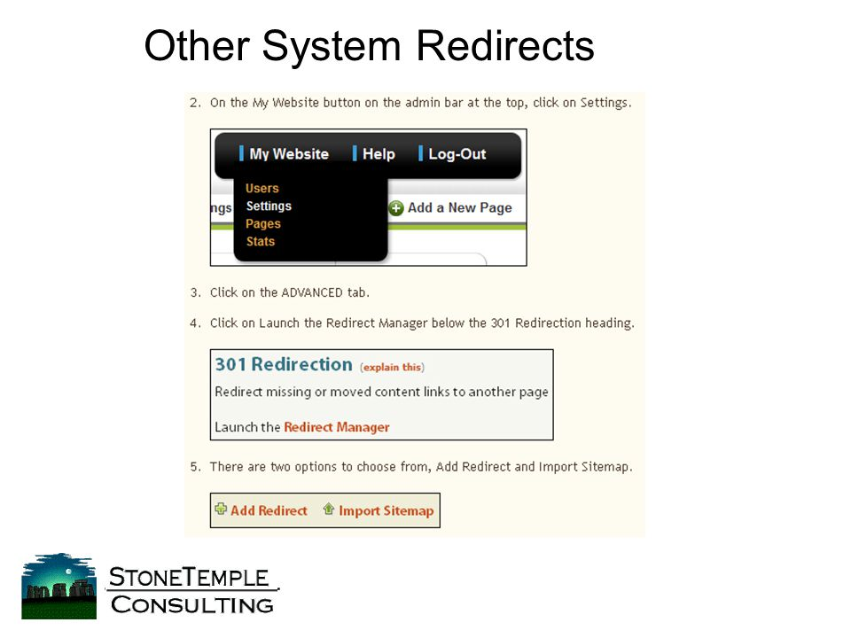 Other System Redirects