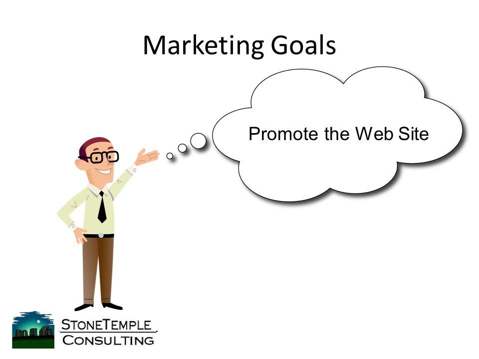 Marketing Goals Promote the Web Site