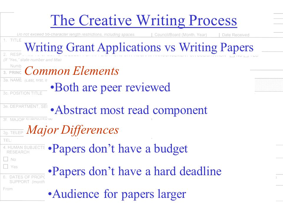 A Grant may not be a Grant A grant is your idea, a contract is not--so pay close attention to what you are contracting to do Different funding agencies have different requirements Foundations often require a very short proposal