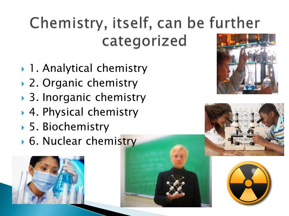  1.Analytical chemistry  2. Organic chemistry  3.