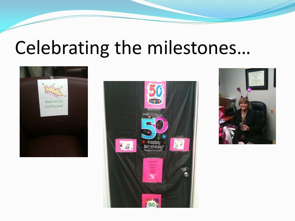 Celebrating the milestones…