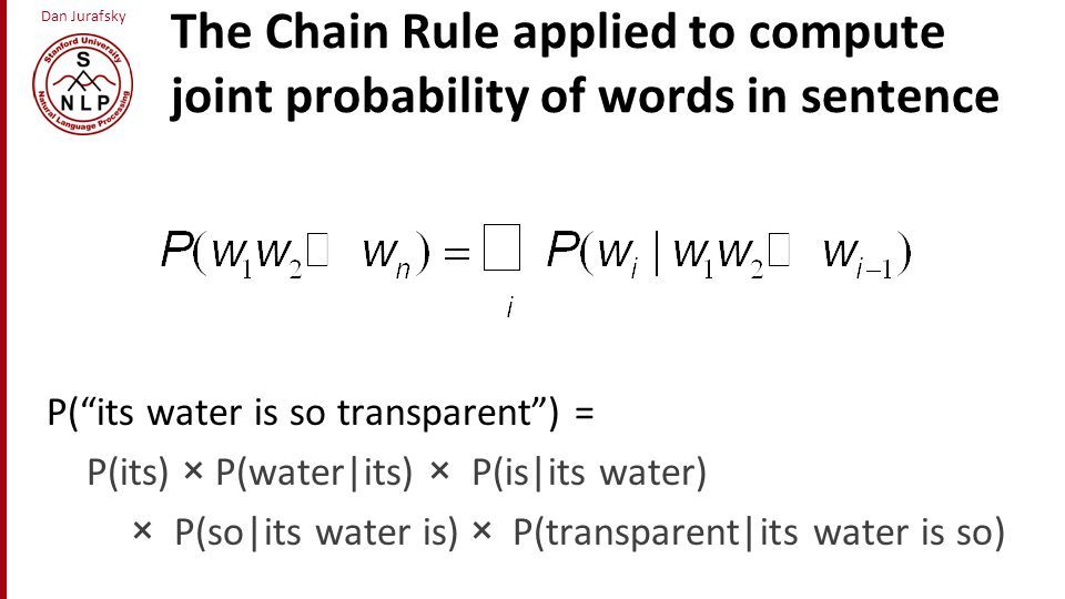 Dan Jurafsky Good-Turing complications (slide from Dan Klein) Problem: what about the .