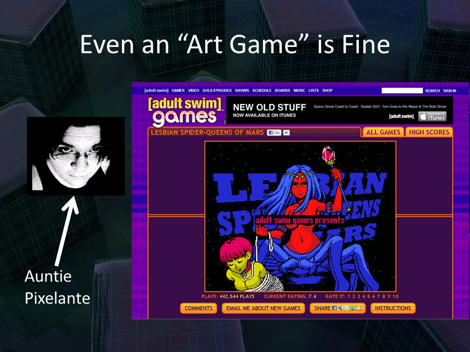 Even an Art Game is Fine Auntie Pixelante