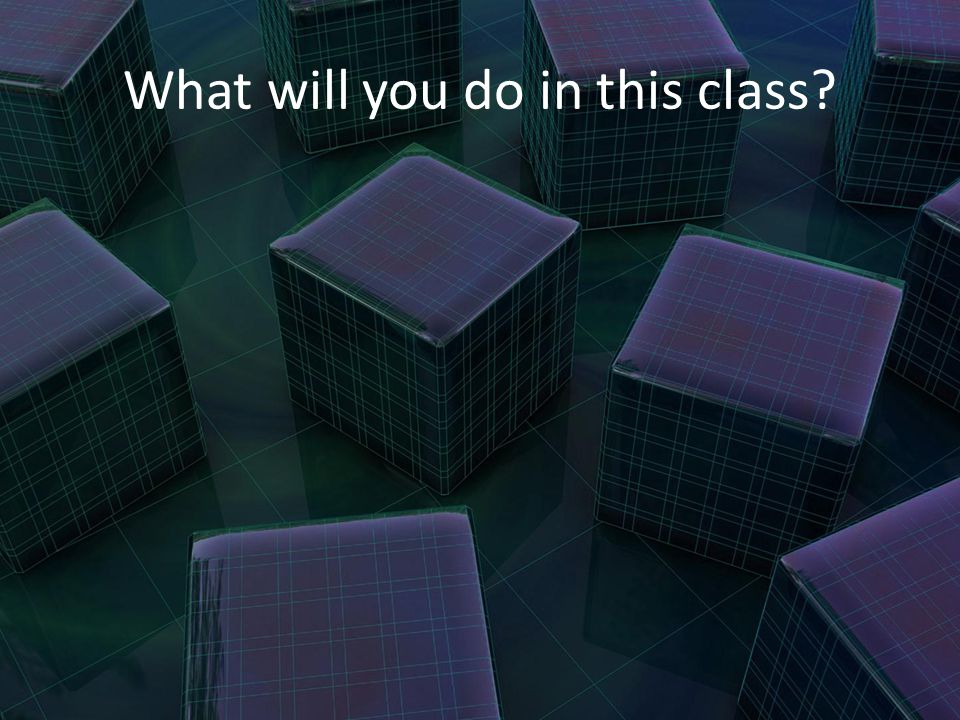 What will you do in this class?