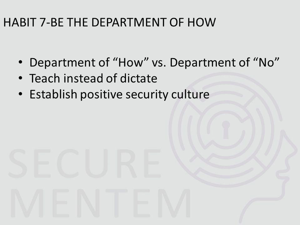 Department of How vs.