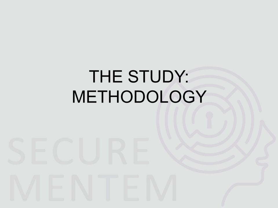 THE STUDY: METHODOLOGY