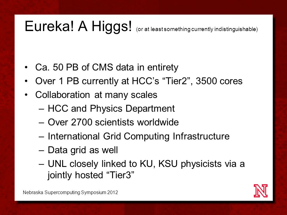 Eureka. A Higgs. (or at least something currently indistinguishable) Ca.