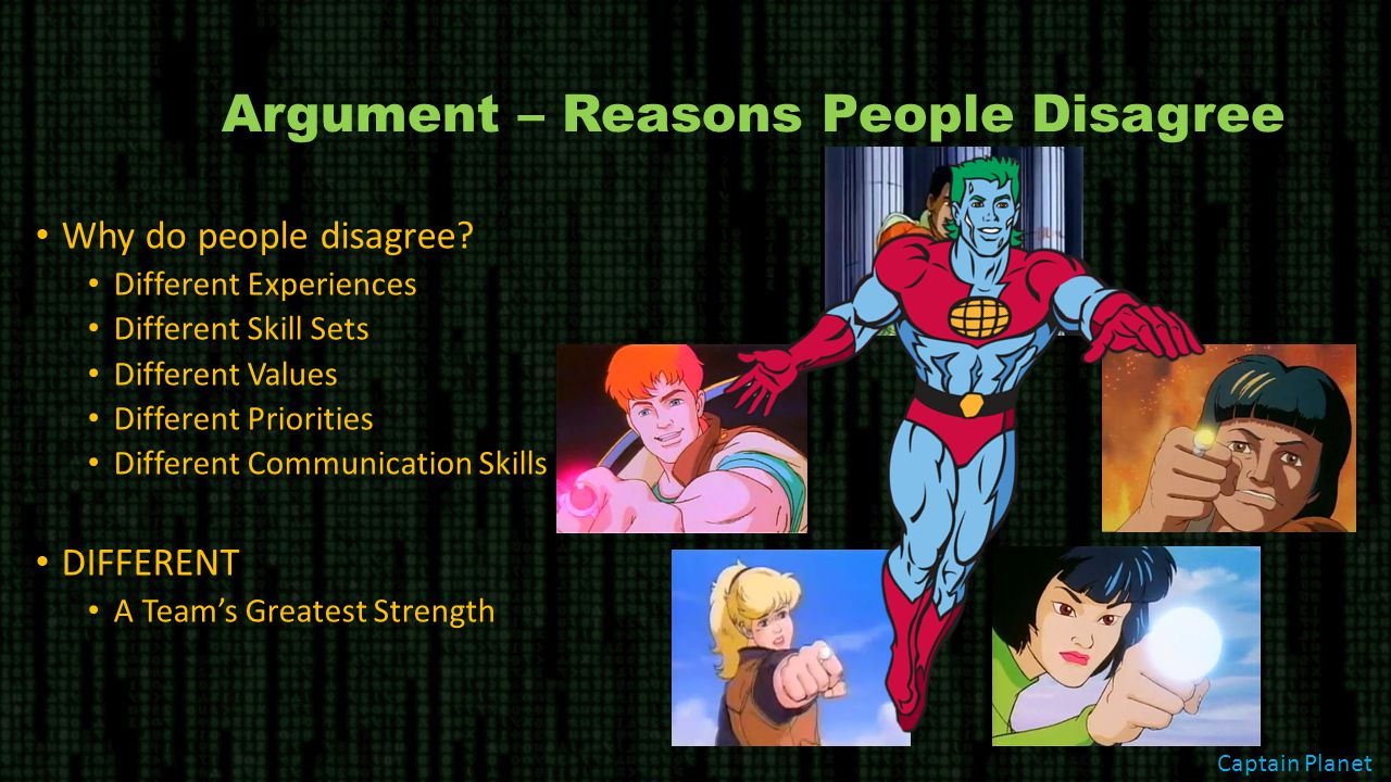 Argument – Reasons People Disagree Why do people disagree.