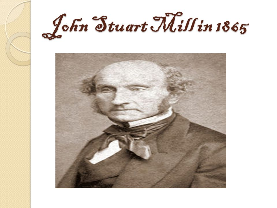 John Stuart Mill in 1865